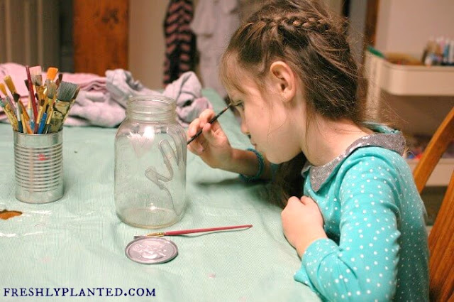 Easy Kid Art Painted Gift Jars