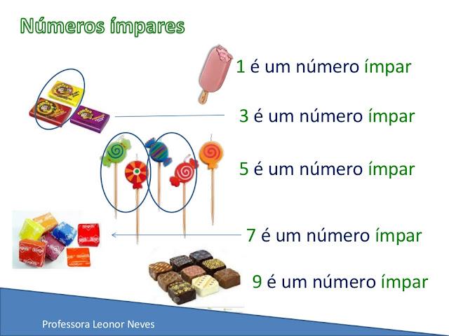 NÚMEROS PARES E NÚMEROS ÍMPARES