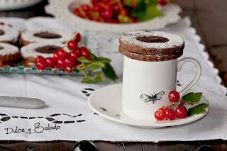 Ojos de Buey de Chocolate y Mermelada de Grosellas
