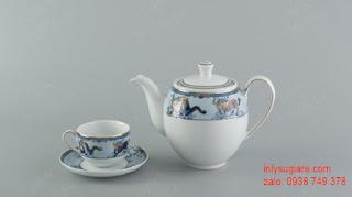Bộ ấm trà in logo của Minh Long