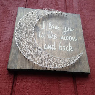 luna in string art