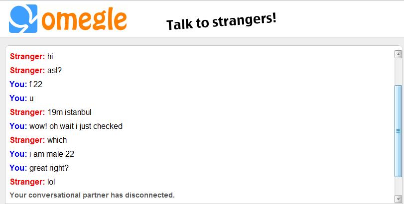 Talk to horny strangers