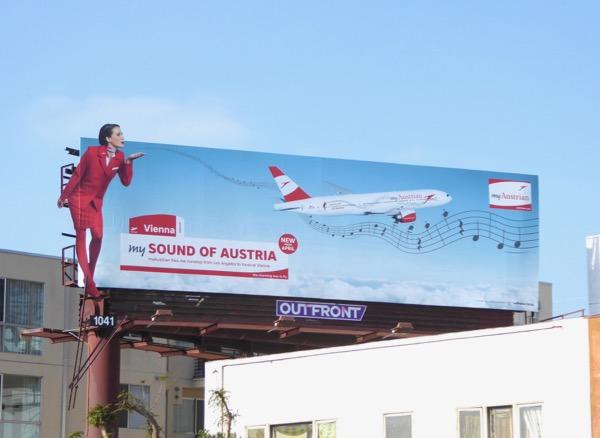 Vienna My Sound of Austria airline billboard