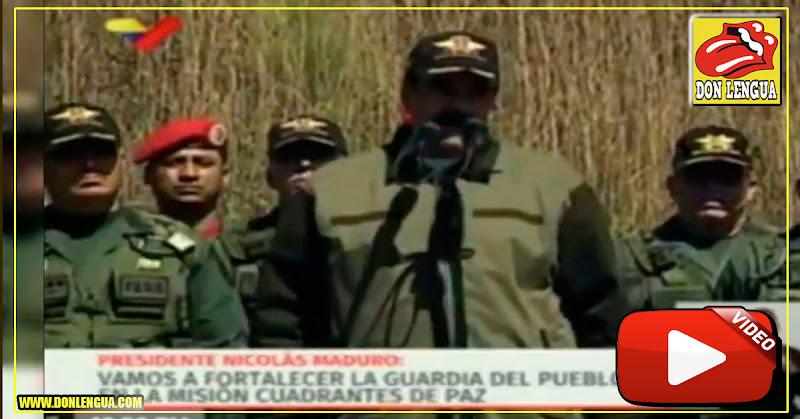 Maduro felicitó a los soldados que quemaron y rompieron la Ley de Amnistía