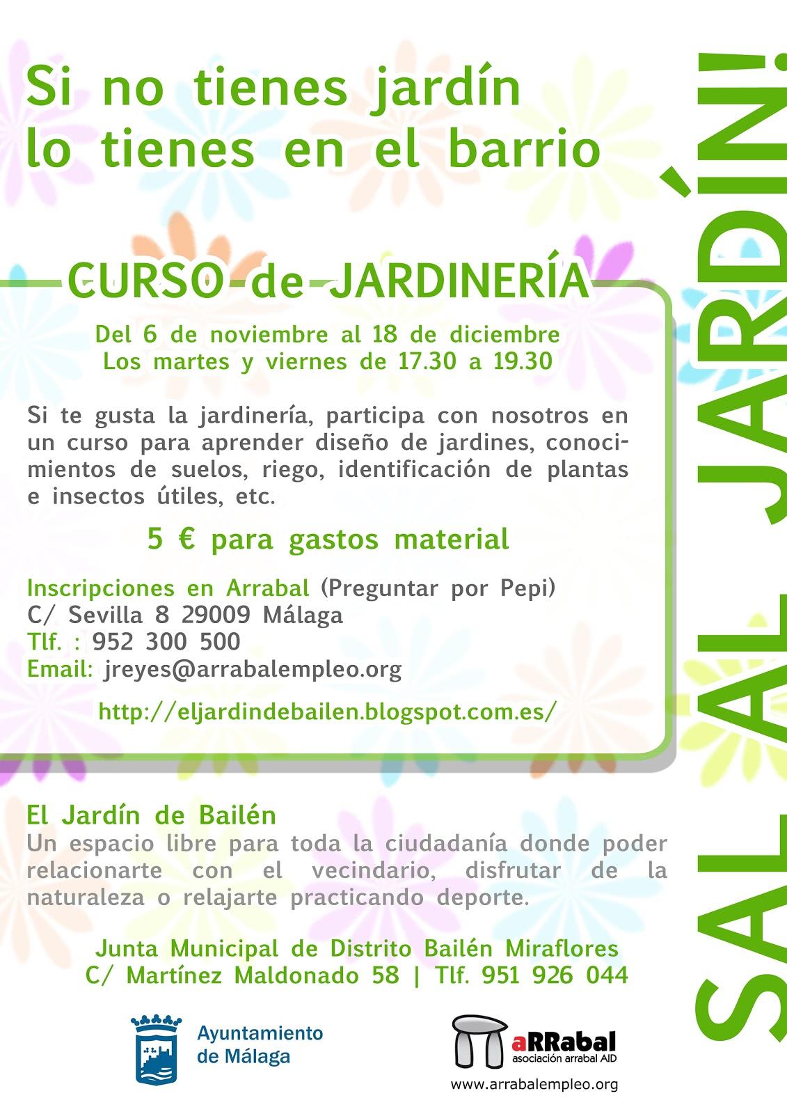 Jard n ecol gico carril de gamarra cartel del curso de for Aprender jardineria