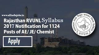 Rajasthan RVUNL Syllabus