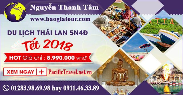 Du lịch Thái Lan xuân 2018 giá 8.990.000 VNĐ chương trình siêu chất lượng