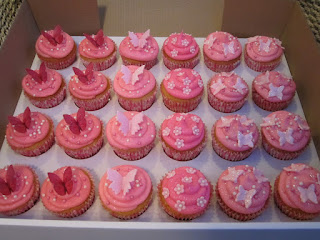 Cupcakes decorados con mariposas
