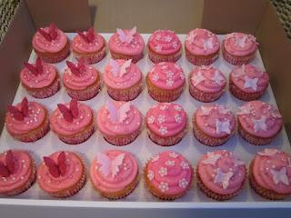 Cupcakes decorados con mariposas