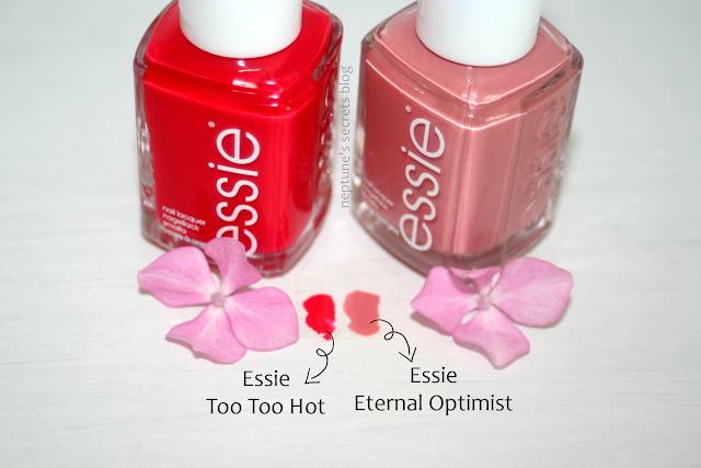 Essie Too Too Hot & Eternal Optimist