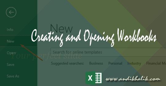 Membuat dan membuka buku Kerja (Workbook) pada excel