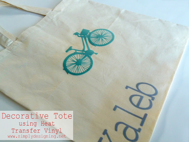 Boy's Bag using Heat Transfer Vinyl (flocked vinyl) - #vinyl #silhouette @SimplyDesigning