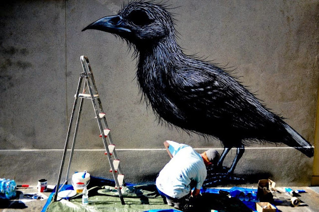 Street Art By Belgian Painter ROA For Lecco Street Art View '13 In Italy. 4