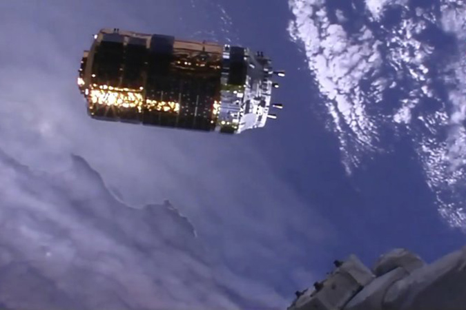 Penelitian Space station receives special delivery from Japan's White Stork