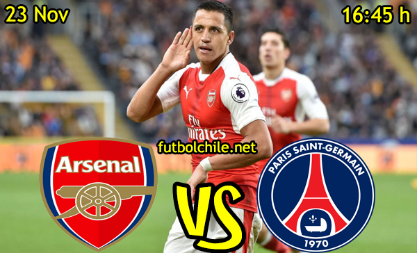 Ver stream hd youtube facebook movil android ios iphone table ipad windows mac linux resultado en vivo, online: Arsenal vs París Saint-Germain