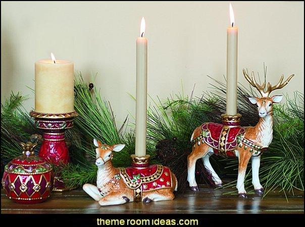 Renaissance Holiday Deer Candleholders