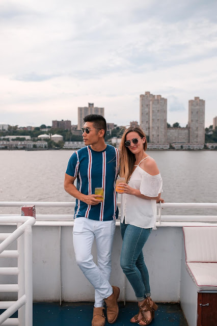Leo Chan wearing Nautical Inspired Outfit | Asian Model and Blogger, Interracial Couple, AMWF