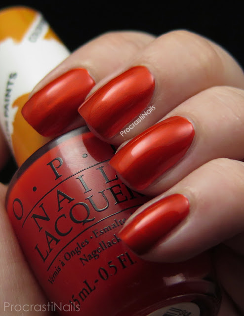 Swatch of OPI Chromatic Orange from the 2015 Color Paints Collection