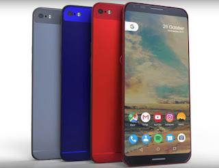 Google Pixel 2 Smartphone variants  in distinct colors