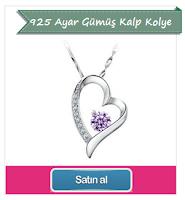 925 Ayar Gümüş Kalp Kolye