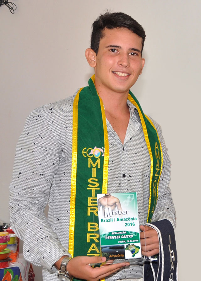 O estudante Hathally Teles foi eleito Mister Brazil Amazônia 2016. Foto: Pedro Araújo