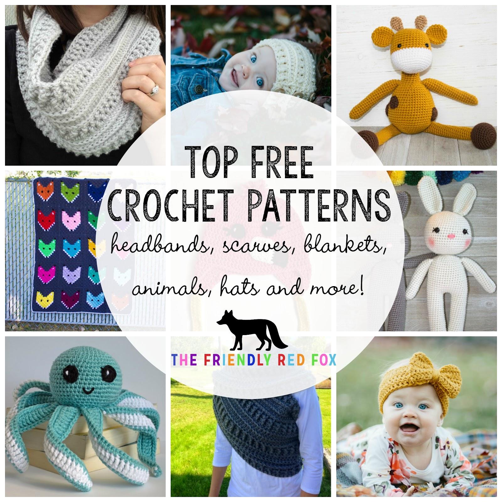 Free Crochet Patterns - thefriendlyredfox.com
