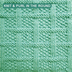 Square Lattice - knitting in the round