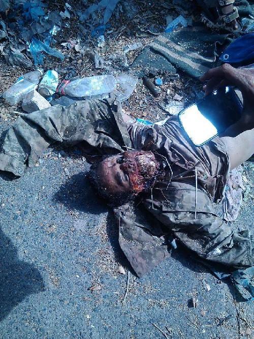 Foto Gambar Milisi Syiah Houthi Tewas