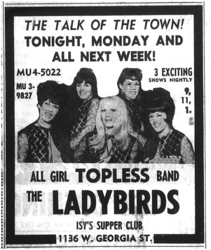 The Ladybirds were a topless rock band promoted by golfer Raymond Floyd