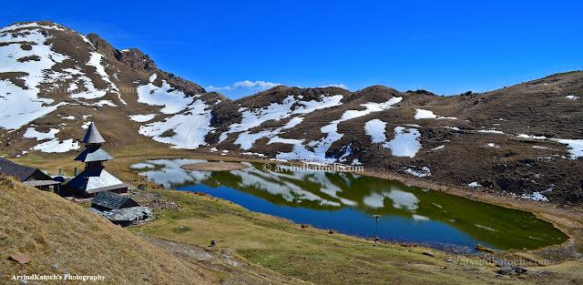 Prashar Lake, Mandi, Himachal, Snow