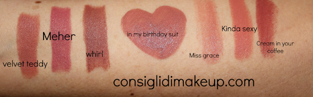 Review Velvet Ink Mulac Cosmetics  swatches comparazioni dupes