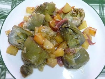 alcachofas con jamon