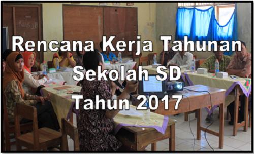 Rencana Kerja Tahunan Sekolah SD Tahun 2017