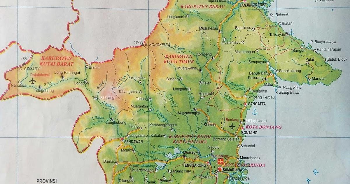Peta Atlas Provinsi Kalimantan Timur  Sejarah and World Maps