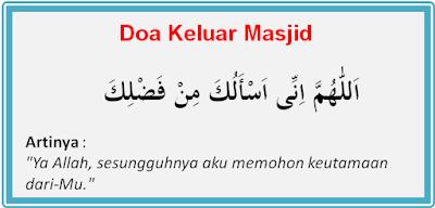 Doa Masuk dan Keluar Masjid, Beserta Hadist Dan Adab-Adabnya