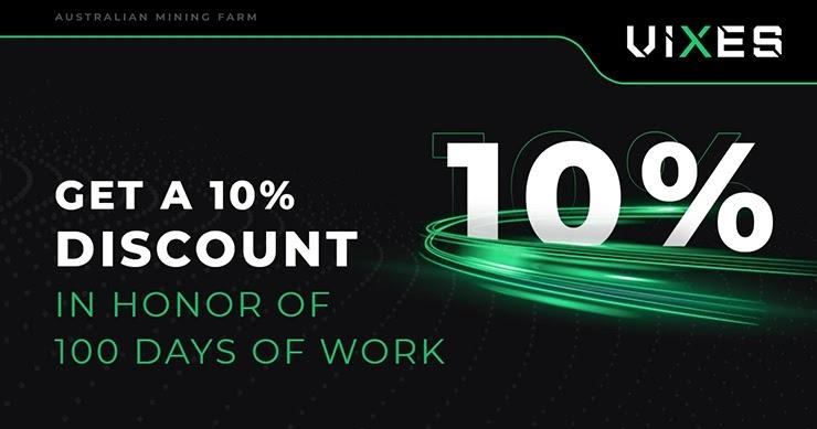 Новая акция и 100 дней работы Vixes