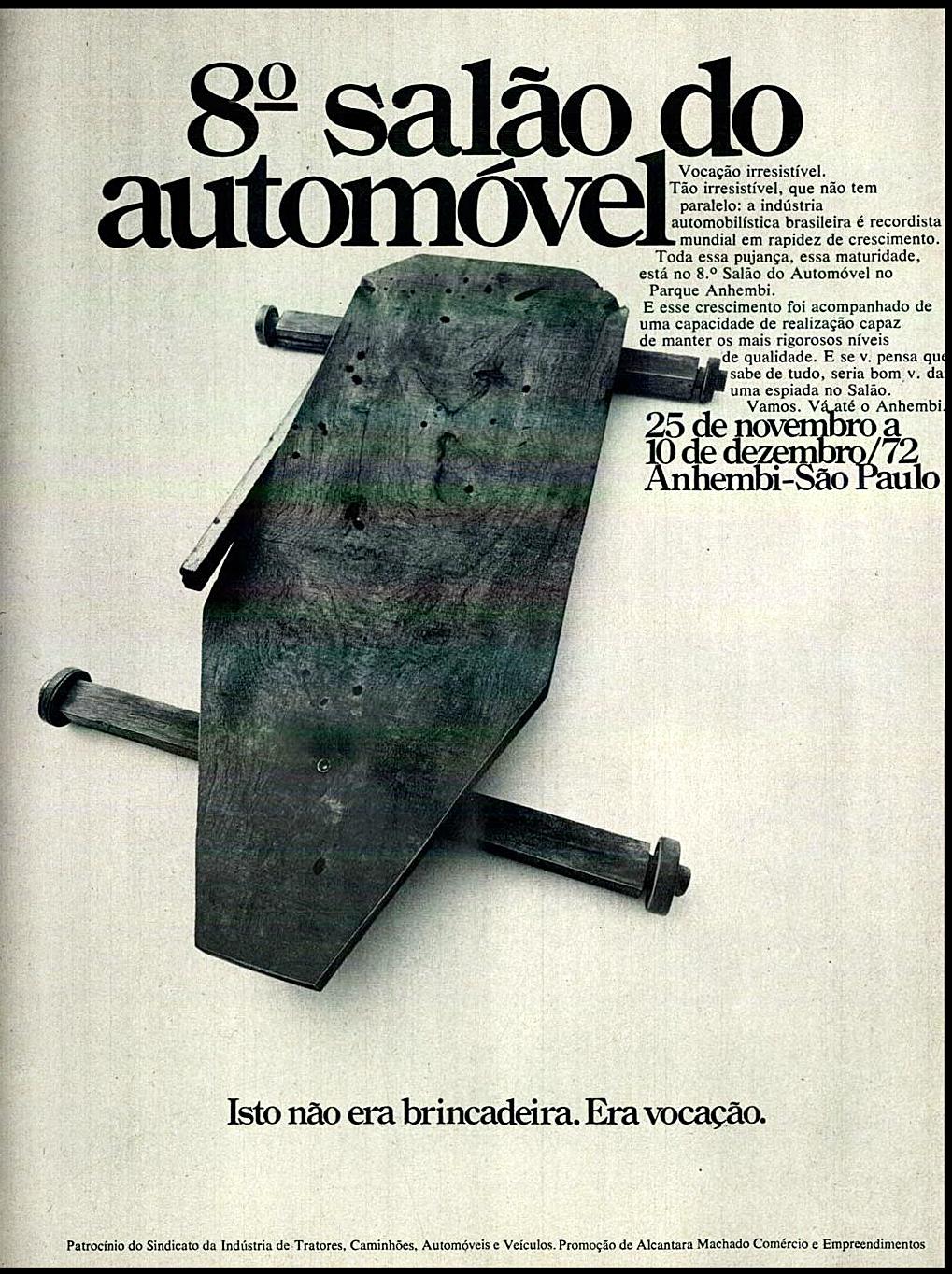 Campanha publicitária para promover o 8º Salão do Automóvel em 1972