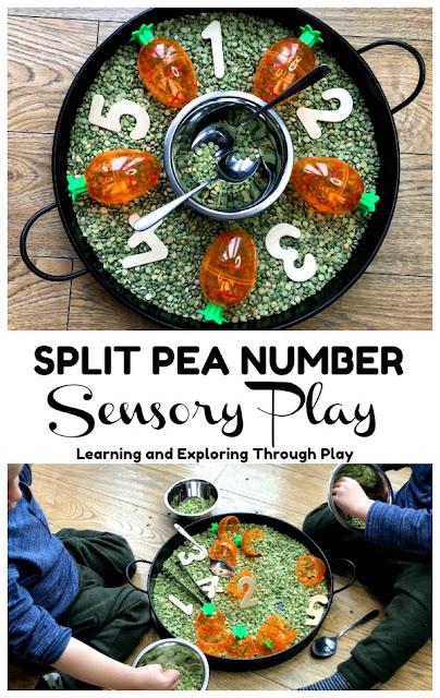 Split Pea Number Easter Sensory Play