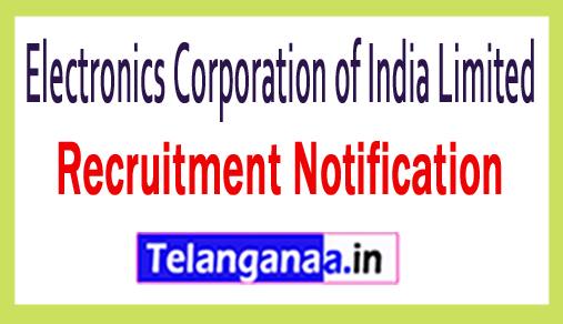 Electronics Corporation of India Limited ECIL Recruitment
