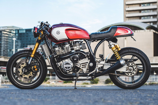 Yamaha XJR1300 Cafe Racer by BlackSilver Customs