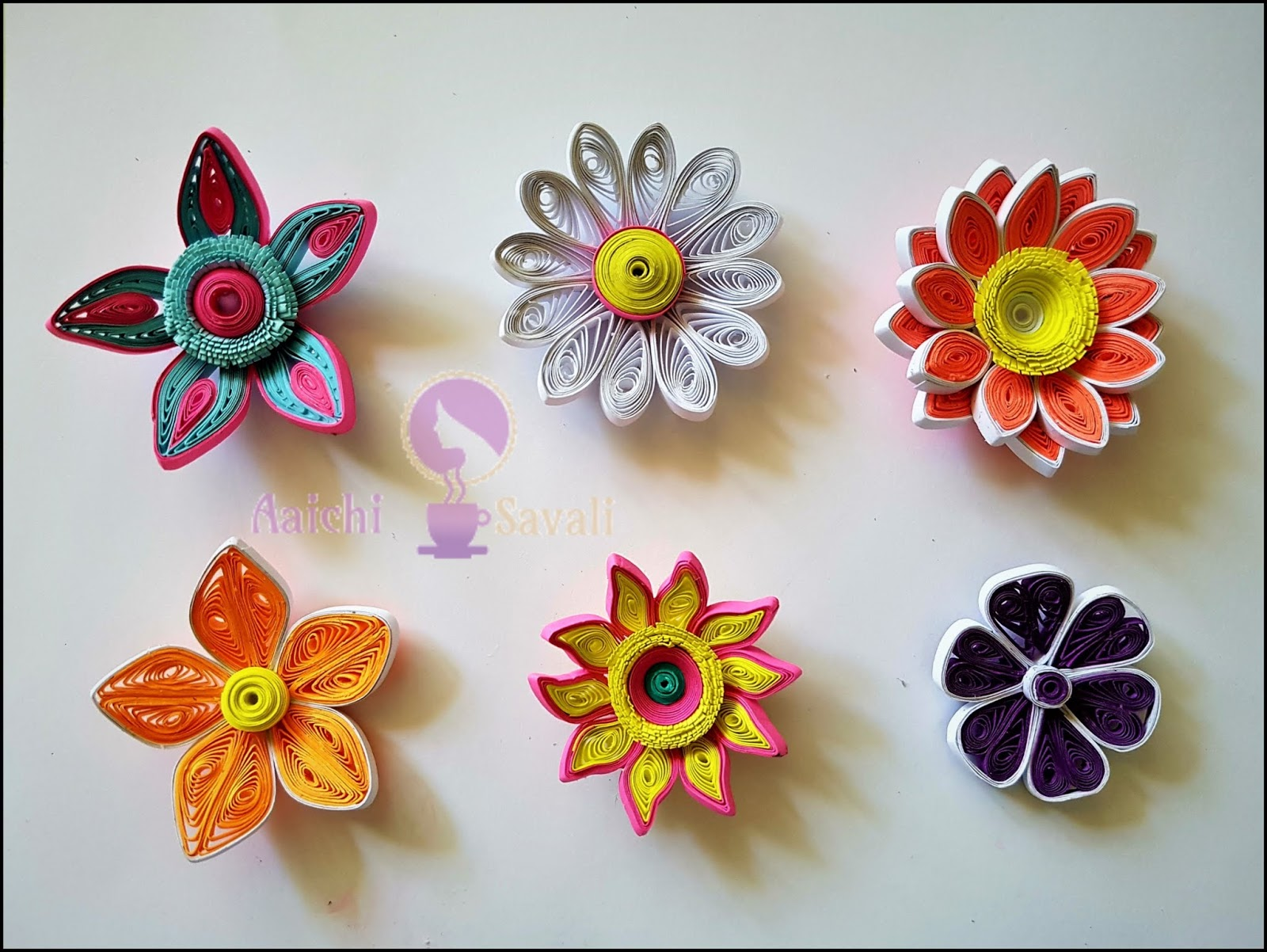 Learn To Quill Gorgeous Paper Flowers In Six Different Ways Aaichi