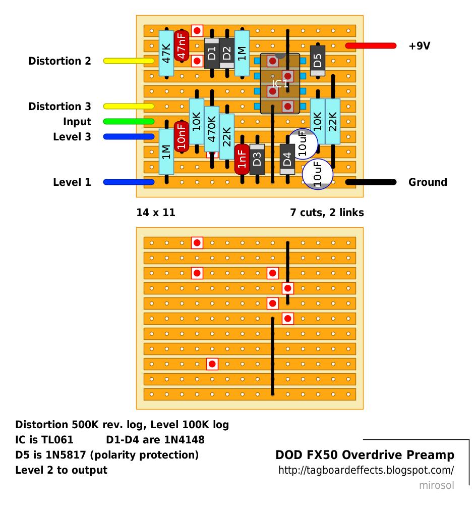 guitar fx layouts dod fx50 overdrive preamp. Black Bedroom Furniture Sets. Home Design Ideas