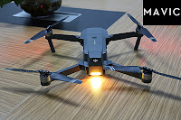 DJI Mavic Pro Folded With Led