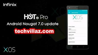 Update-infinix-hot-4-pro-to-nougat
