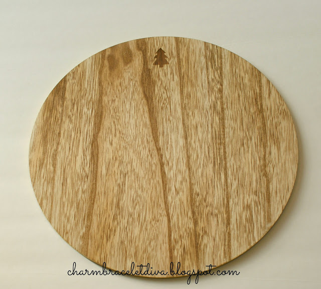 wooden plate charger Christmas tree Target