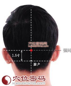 強間穴位 | 強間穴痛位置 - 穴道按摩經絡圖解 | Source:xueweitu.iiyun.com