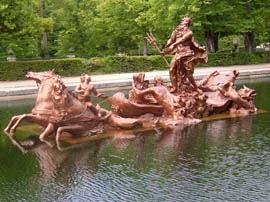 Escultura de Neptuno en La Granja (Segovia)