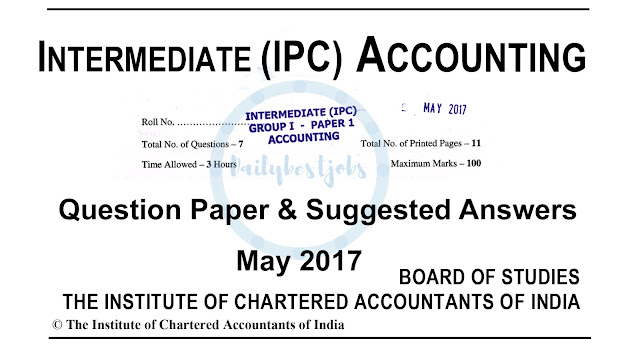 IPCC Suggested Answers May 2017