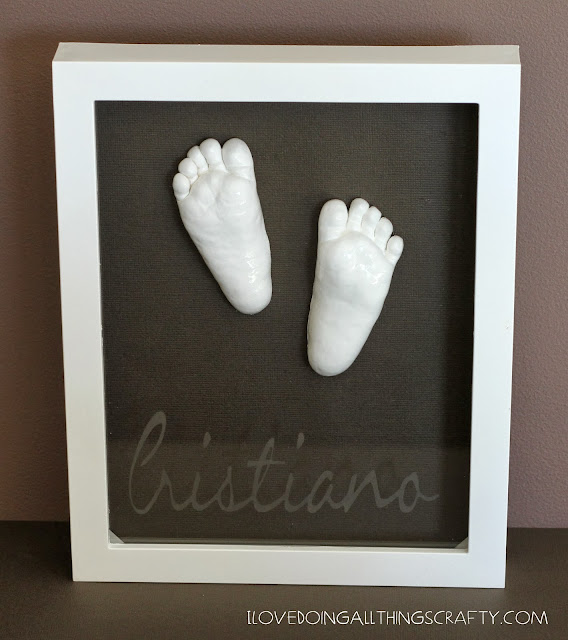 Baby Feet Shadow Box Keepsake - DIY Tutorial