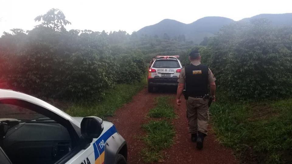 Homem se perde em mata fechada e é localizado pela Polícia Militar de Andradas (MG)